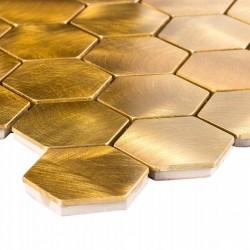Mozaika metalowa SK 96542 Złota Hexagonalna